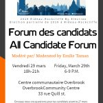 Overbrook's Candidates' Forum @ Overbrook Community Centre